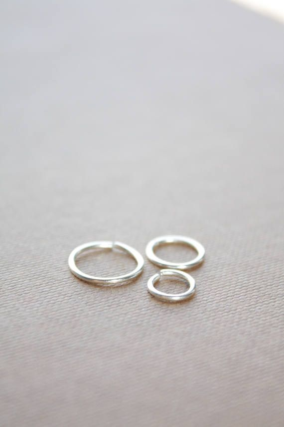 22g 18g Thin nose ring Small septum ring Silver nose hoop 20g
