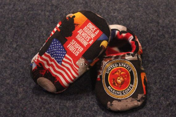 usmc baby stuff | Marine Corp Baby/Toddler Slippers, Crib Shoes, Baby Booties on ...