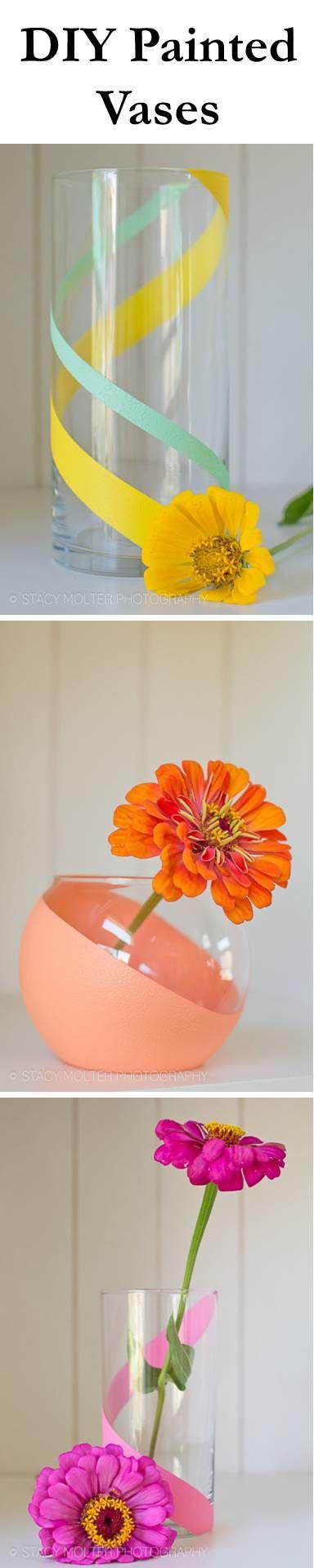 #DIY your own custom vases with #marthastewartcrafts paints! #12monthsofmartha