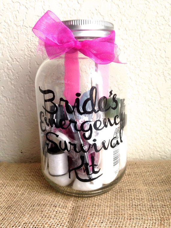 SALE Bride's Emergency Survival Kit-Shower Gift-Wedding Day-Gift from Maid of Honor-Necessities-Hand Painted-Items included on Etsy, $28.00
