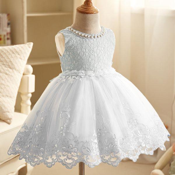 134665dd62 Vestido Princesa Fashion Elegante em Renda e Voal Bordado – Primavera  Verão