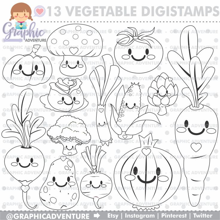 The 25 Best Vegetable Coloring Pages Ideas On Pinterest