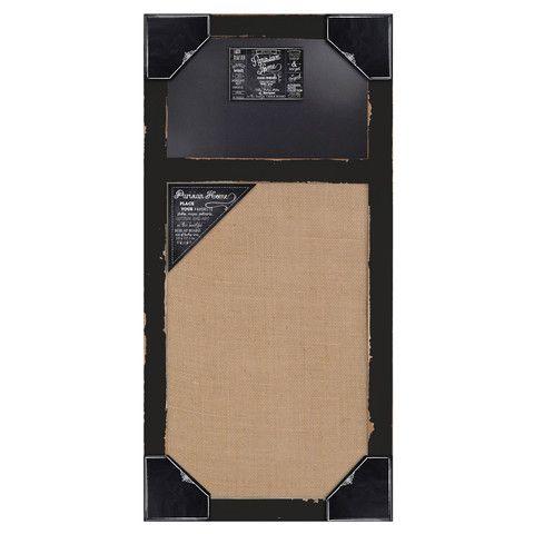 Distressed Wood Framed Wall Message Burlap Board & Chalk Bulletin Boar – lightaccents.com