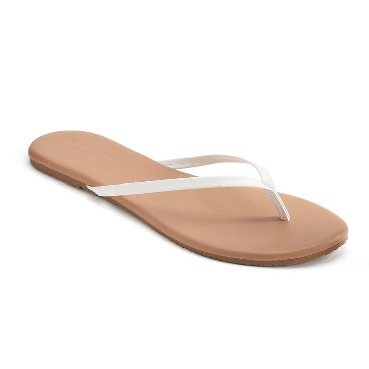 LC Lauren Conrad Pixii Women's Flip Flops, Size: 10, White
