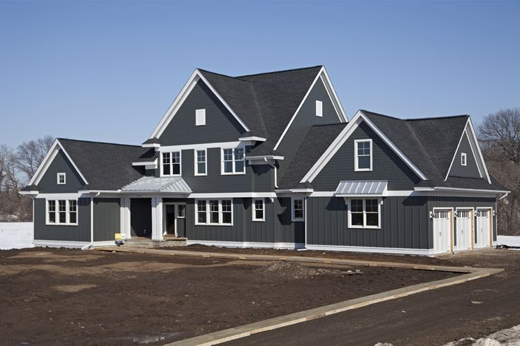 James hardie design ideas photo showcase crisp iron - Best exterior paint for hardiplank siding ...