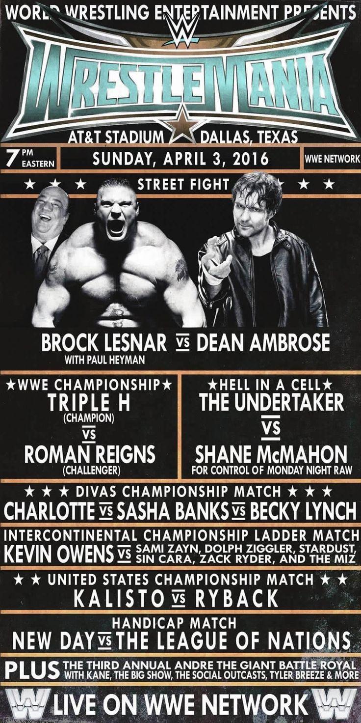 So much pileup vintage pro wrestling logos - Wrestlemania 32 Retro Poster 1