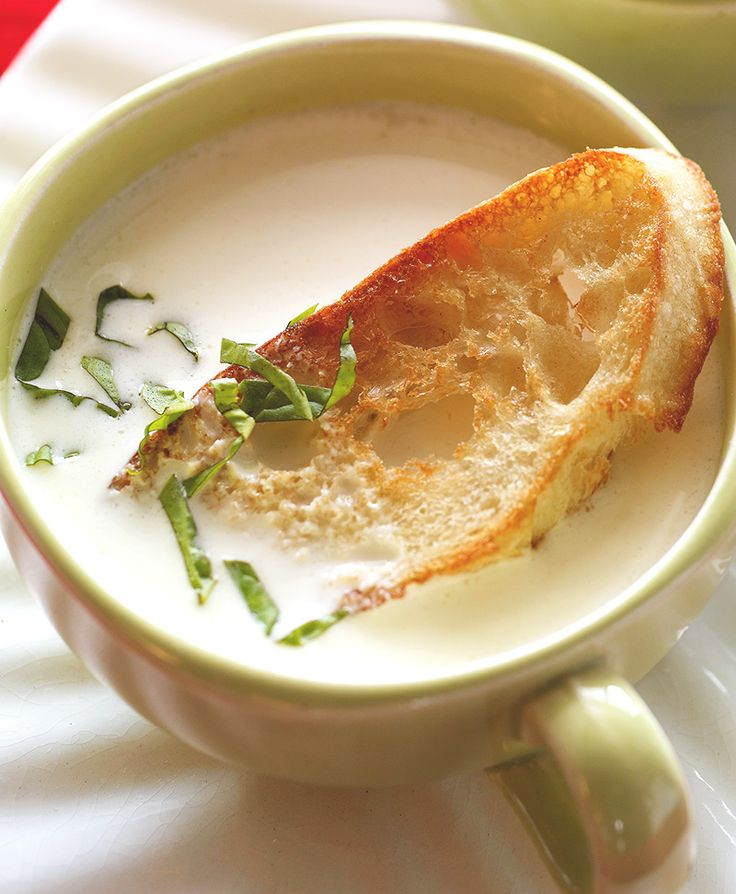 Warm up with a new kind of cheese soup made with Brie and chardonnay. #brie #soup