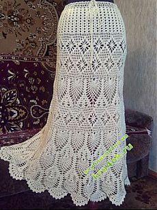 Вязаные юбки крючком со схемами вязания. Детские и женские вязаные юбки.