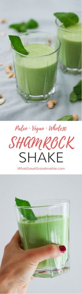 Paleo, Vegan, Whole30 Shamrock Shake is a healthy and delicious alternative to your favorite St. Patrick's Day drink!