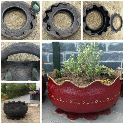 upcycle old tyres into attractive planters for the garden - Garden Ideas Using Old Tires