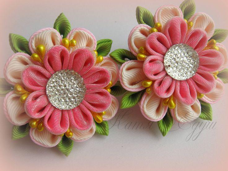 Цветочки из репсовых лент мастер класс - Paket-nn.ru
