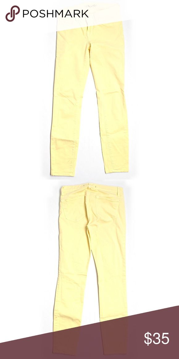 """J Brands yellow skinny jeans size 26 J Brands yellow skinny jeans size 26"""" waist. 27"""" inseam. Excellent condition! Check out my closet to bundle and save more! J Brand Jeans Skinny"""