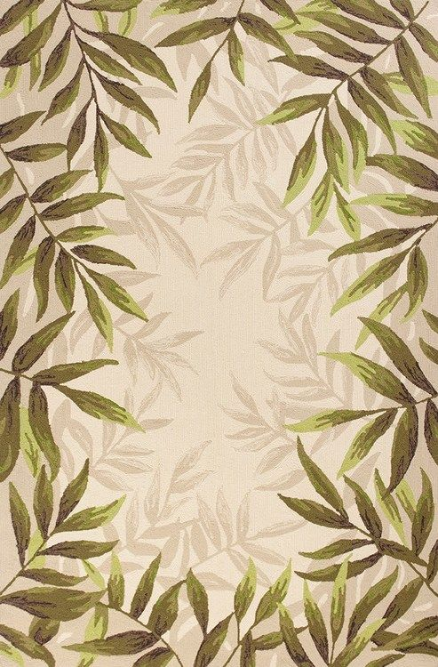 Nature S Greenery Palm Area Rug