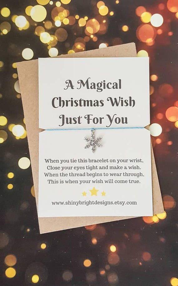 Snowflake Wish Bracelet #girlsbracelet #giftsforteens #teengift #wish #wishes #magicwishes #wishbracelet #snowflake #snowflakebracelet #christmas #stockingfiller #stockingstuffer #vhristmasstocking https://www.etsy.com/uk/listing/547247539/snowflake-bracelet-christmas-wish