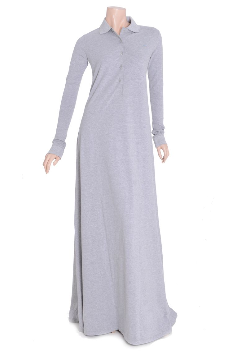 The timeless Aab's classic polo grey abaya. Use code: FF10 to get 10% OFF your orders at Aab's site http://www.aabcollection.com/shop/product/classic-polo-grey-abaya/168