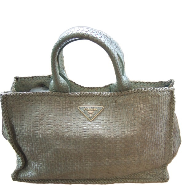 NEW IN** Prada Madras Tote in Pistacchio | Our Bags to Hire ...