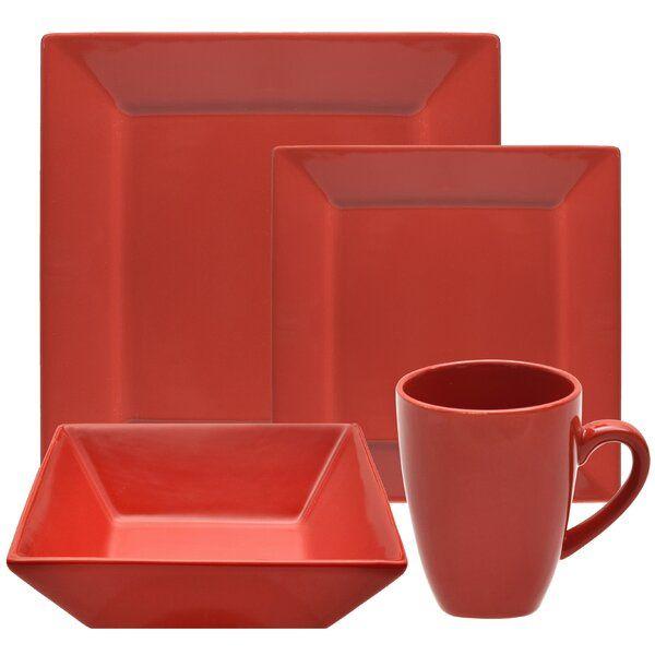 Ilse 16 Piece Square Dinnerware Set Service For 4 Square