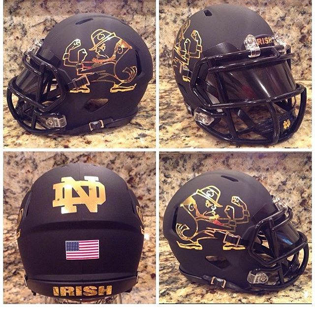 Back to back tag 10 people who would like this Helmet ! #notredame