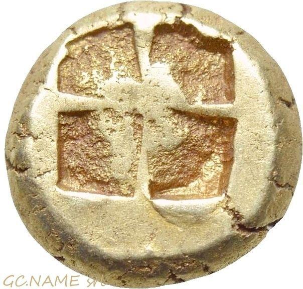 Ancient Greek: IONIA. Phokaia. EL Hekte (387-326 BC)..Gold Oro Or #457
