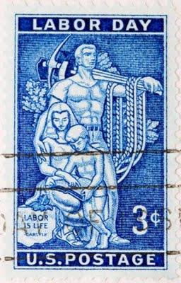 labor day, vintage stamp, stamp, postage, labor day stamp, USA, U.S.A, US, U.S,