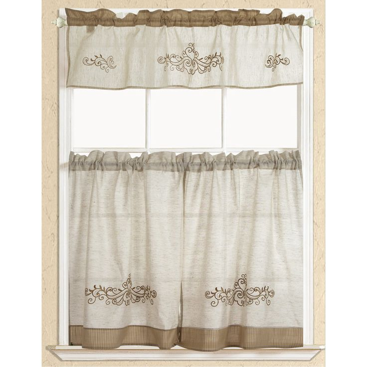 The 25  best Kitchen curtain sets ideas on Pinterest | Valances ...