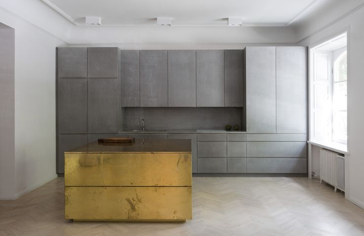 richard lindvall / the gold+gray apartment, stockholm