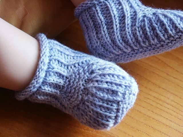 Blue Steps - Baby Booties- free pattern