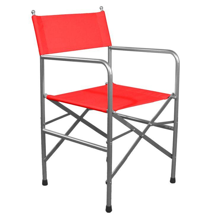 Regista. Sedia pieghevole da regista con struttura in acciaio verniciato a polveri color alluminio e seduta e schienale in tessuto ignifugo doppio con cuciture ad alta resistenza. Disponibile in molti colori di tessuto così da poterla personalizzare a proprio piacimento.
