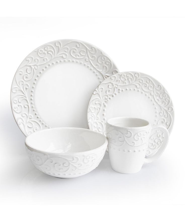 Jay Import - Bianca White Dinnerware Set  sc 1 st  Pinterest & 11 best White Dinnerware images on Pinterest | White dinnerware ...