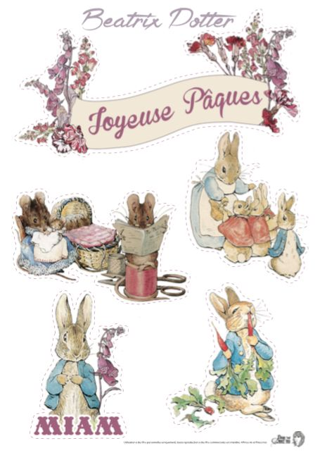 Beatrix Potter Cake Topper Printable Printables