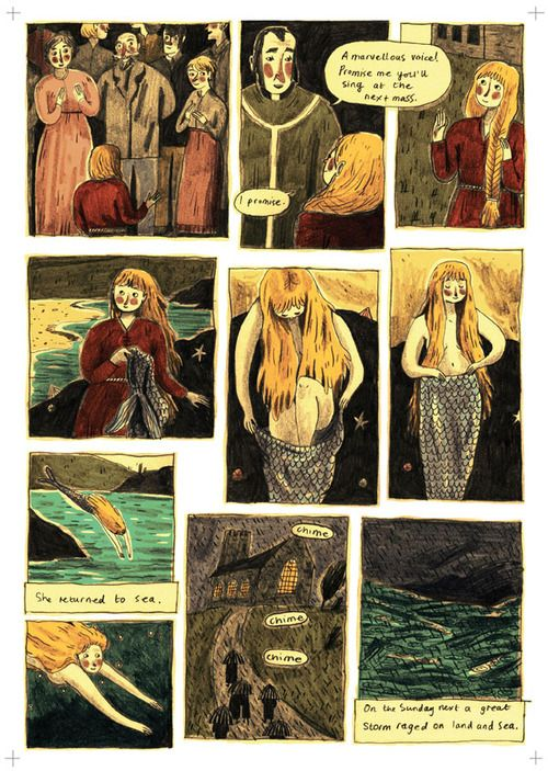 'THE MERMAID' | Briony Smith: Page 3 of a Cornish folktale graphic short story     ✫ღ⊰n