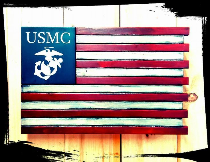 US Marine Core - Custom Wooden Flag (Hidden Compartment) - The Ole ...