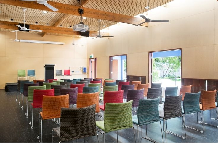Fully upholstered WEB chairs by Burgtec (Cancer Support WA fit-out)