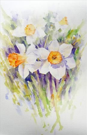 Daffodils, Flowers., Joanne Boon Thomas, SAA Professional Members' Galleries