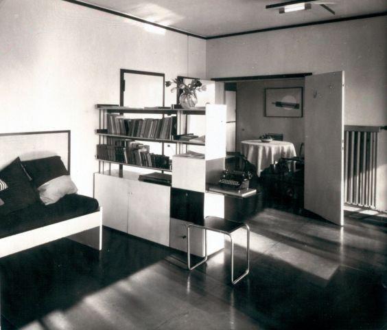 Lucia Moholy, Meisterhäuser Dessau, Wohnzimmer Im Haus