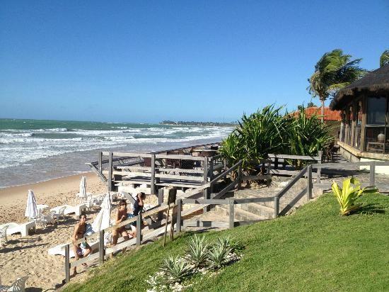 Hotel Armação De Porto de Galinhas: Vista do deck do bar na praia.