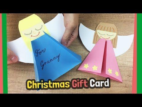 Cute Christmas Gift Card Idea Very Easy Make Youtube Carta