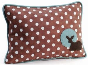 Deer pillow on grey polka dots instead.