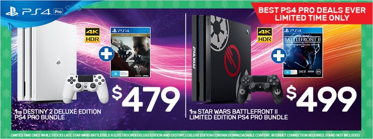 EB Games sold out of their awesome Black Friday PS4 Pro deal quite quickly, but a bunch of others have popped up. The best of the lot is probably at EB Games for $499 and includes a PS4 Pro as well as GT Sport, DOOM, The Evil Within 2 and The Elder Scrolls Online. It's one...