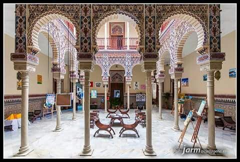 Vista general del patio arabe