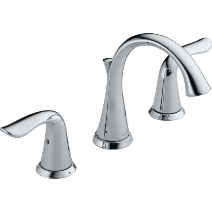 delta faucet 3538mpudst lahara two handle widespread bathroom faucet wmetal - Bathtub Faucets