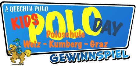 Du möchtest einmal ein Polospiel hautnah miterleben? Dann lass dir deine Chance dazu nicht entgehen und komm zum KIDS POLO DAY in die Kids Poloschule in Kumberg bei Graz.   Gewinne jetzt eines von 5 Poloschnuppertrainingsim Wert von 99,- Euro auf der Anlage Kumberg!