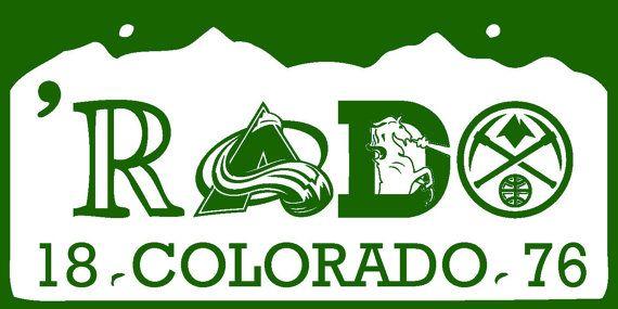 """Colorado License Plate """"RADO"""" Sticker - Denver Broncos, Denver Nuggets, Colorado Avalanche, Colorado Rockies on Etsy, $5.95"""
