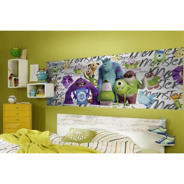 Panoramique Monstres et Cie Campus - poster Komar : Panoramique chambre d'enfant