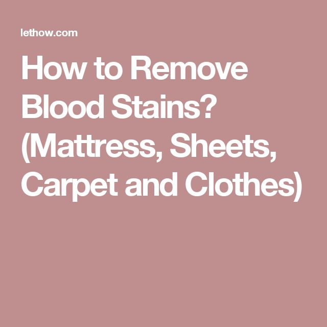 Best 25 Remove Blood Stains Ideas On Pinterest Stain