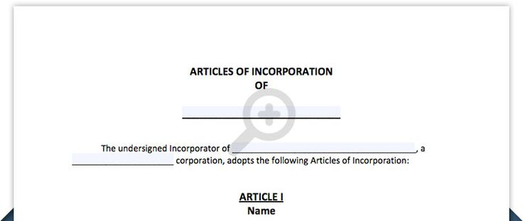 Articles Of Incorporation Template Free Articles Of Incorporation