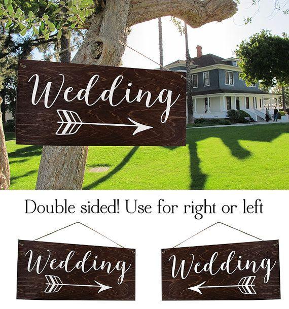 Wedding Arrow Sign Wedding Directional Sign Rustic by ElegantSigns