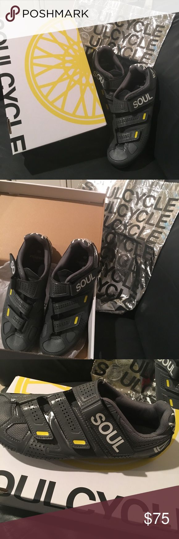 SoulCycle bike shoes Great condition size 45 SoulCycle Pearl Izumi bike shoes with clip.  Marked on back but could easily be washed off.  Great shape- worn for maybe three months. Save yourself the $3 per class fee! soulcycle Shoes Athletic Shoes