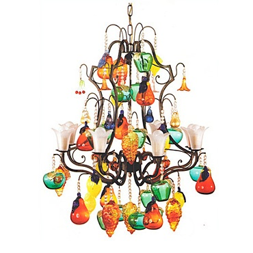 Colorful Chandeliers: colorful glass fruit chandelier,Lighting