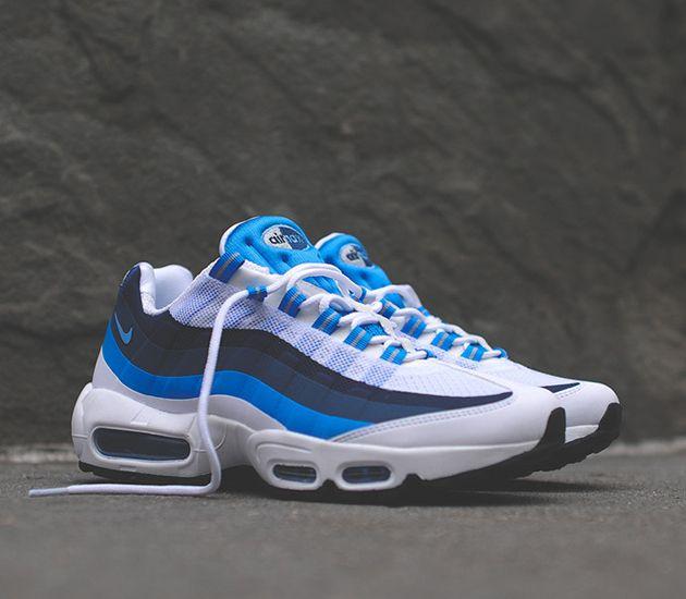 a11a3168a820 ... Feet  Nike Air Max 95 No Sew-White-University Blue-New Slate ...